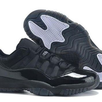 DCCK Jacklish Cheap Air Jordan 11 Retro Low All Black 2015 For Sale Online