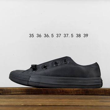 Kuyou Fa19630 Converse All Star Silk Shoelaces Black Canvas Shoes