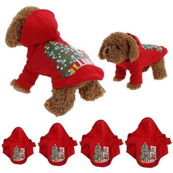 Christmas Dog Clothes Santa Costume Pet Dog Christmas Clothes Winte Coat Clothing Cute Puppy Outfit for Dog Plug Sizes S-XL