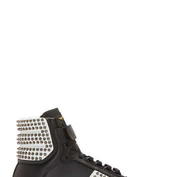 Saint Laurent Black Studded Court Classic High-top Sneakers