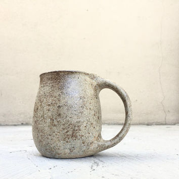 STONE-LIKE MUG 16 oz, ceramic, ceramics, pottery, handmade, coffee, tea, hot, cocoa, milk, water, chai, latte, juice, beer, mugs, rustic