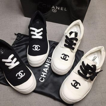 CHANEL Women Fashion Embroidery Low Heeled Shoes