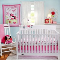 Disney Mickey Mouse & Friends Minnie Mouse Garden 3-pc. Crib Set by Crown Crafts