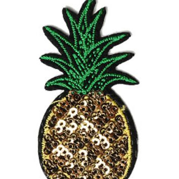 Pineapple Iron-On Patch