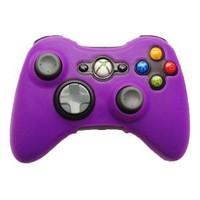 HDE Silicone Gel Rubber Protective Controller Skin Grip for Xbox 360 Wireless Game Pad Controllers (Purple)