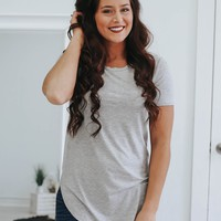 The Ultimate Casual Tee - Heather Grey
