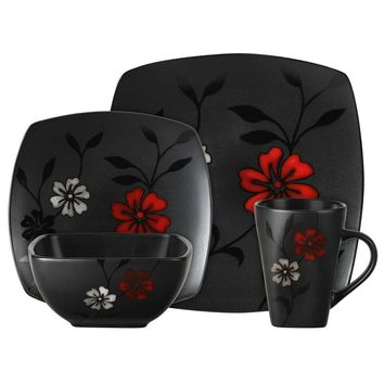 Gibson 16-Piece Evening Blossom Dinnerware Set