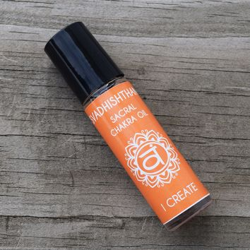"""Sacral Chakra Oil """"I CREATE"""" - Boost Your Creativity & Heal Your Emotions"""