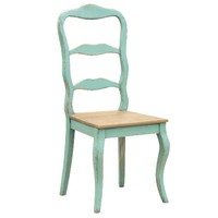 Etienne French Turquoise Dining Chair | French Style Dining Room Furniture | French Furniture