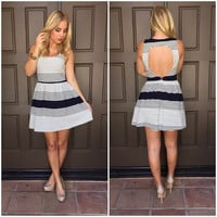 First Mate Stripe Babydoll Dress