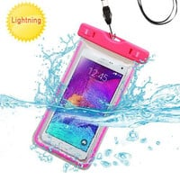 Hot Pink Waterproof Bag Lanyard Pouch for HTC One M8