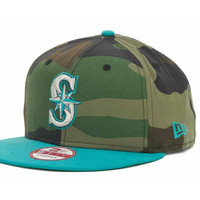 Seattle Mariners MLB Camoback Strapback 9FIFTY Cap