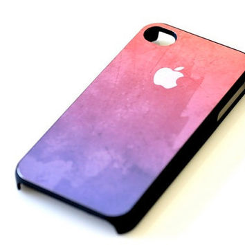 Abstract Watercolor iPhone Case - Pink Purple Texture