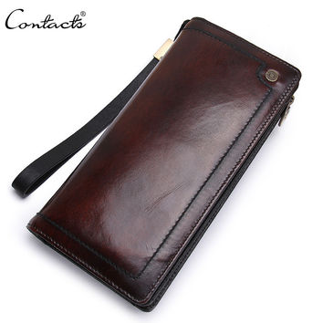 Men Leather Bags Vintage Handcrafts Wallet [9026565827]