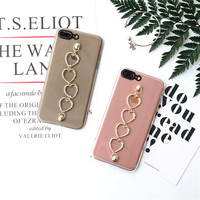 Girls love bracelet case for iPhone 7 7plus case for iphone 6 6S Plus 6Plus capa fundas transparent silicone female cover