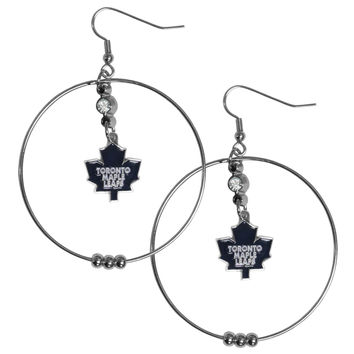 Toronto Maple Leafs 2 Inch Hoop Earrings