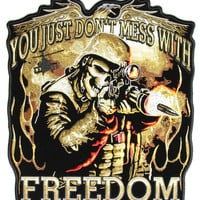 Don't Mess with Freedom Large Back Patch