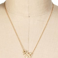 Gold Anchor Pendent Necklace
