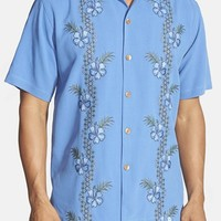 Men's Tommy Bahama 'Strada Vines' Original Fit Embroidered Silk Camp Shirt