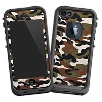 Woodland Camouflage Skin  for the iPhone 5 Lifeproof Case by skinzy.com