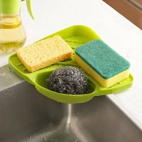 Kitchen Sink Storage tool Corner Storage Rack Sponge Holder Wall Mounted Dishes Drip Rack Bathroom Soap Dish Wall Storage Rack
