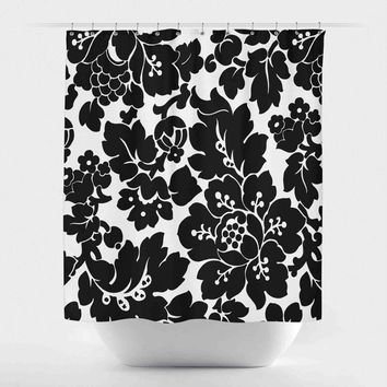 Blooming Victorian Floral-Black and White