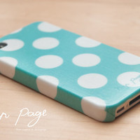 Apple iphone case for iphone iphone 3Gs iphone 4 iphone 4s iPhone 5 : Turquoise polka dots