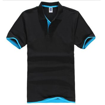 Turn Down Collar Summer Casual Men's Polo Shirt Assorted Colors Size XS-XXXL
