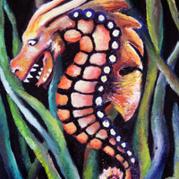 Sea Dragon - Original Oil Painting - Alter Ego - Seahorse