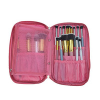 Hotrose® Timed Promotion Multifunctional Makeup Brush Zipper High Quality Cosmetic Case for Travel & Home Use(pink)