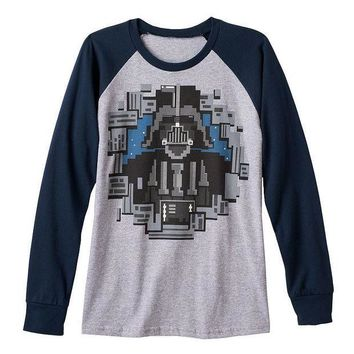 ESB7GX Star Wars Darth Vader Blocked Tee - Boys 8-20 Size