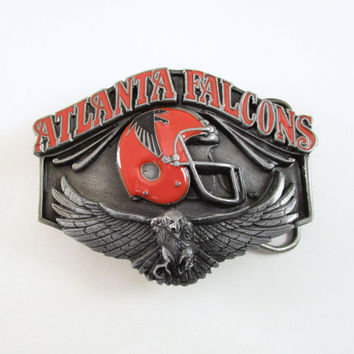 1987 Atlanta Falcons Belt Buckle, Vintage Football Buckle, NFL Licensed Buckle, Limited Edition, Sports Belt Buckle, Men's Stocking Stuffer