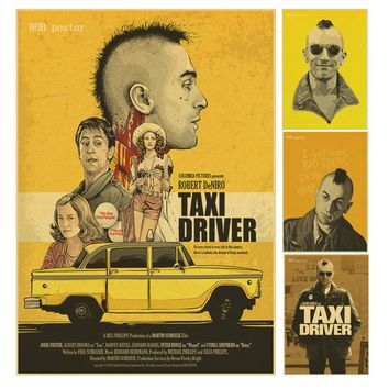 The Taxi Driver Classic Retor Movie Poster Vintage Retro Decorative Wall Stickers Home Posters Art Bar Decor