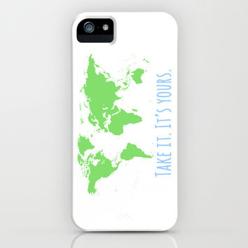 World Map inspiration typography iPhone & iPod Case by Prints Of Heart