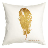 H&M Feather-motif Cushion Cover $9.99