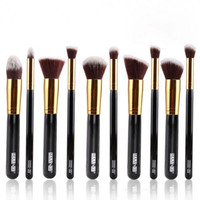 10Pcs Plastic Handle Professional Cosmetic Makeup Brush Set Top Quality Gift + Free Shipping