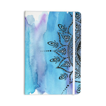 "Li Zamperini ""Blue Mandala"" Aqua Black Everything Notebook"