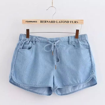 Women's Fashion Casual Denim Pants Shorts [4918042180]