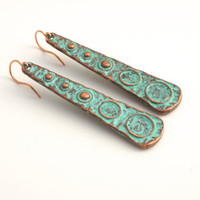 Free Shipping Jewelry  Rustic TURQUOISE COPPER by Cheydrea on Etsy