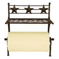 Western Star Paper Towel Holder with Shelf