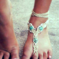 Gypsy Barefoot Sandal Sea Turtle Motif Beach Jewelry