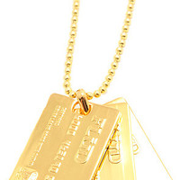 Flud Watches Necklace Credit Card in Gold