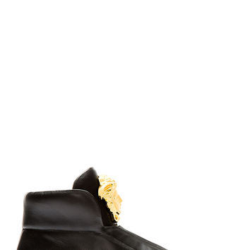 Versace Black Leather Medusa High-top Sneakers