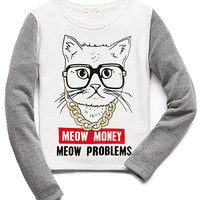 Meow Money Sweatshirt (Kids)