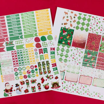 Christmas Planner Stickets Kit - Special Edition for Erin Condren Life Planner (ECLP Vertical)