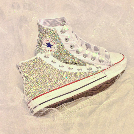 dfa8cea9442c Rhinestone Converse Bride Custom from Intellexual Design