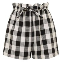 Gingham Paperbag Short - Shorts - Clothing