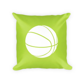Kids Basketball Cotton/Poly Throw Pillow