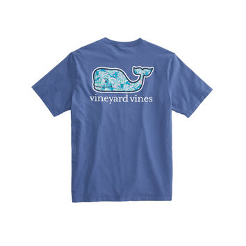 Short-Sleeve Turtles & Starfish Whale Fill Pocket T-Shirt