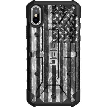 """LIMITED EDITION - Authentic UAG- Urban Armor Gear Case for Apple iPhone X (5.8"""" Screen) Custom by EGO Tactical- USA Subdued Digital Camouflage Flag"""